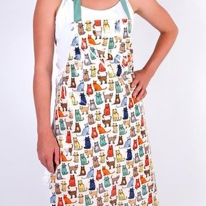 Multicolored Cat Apron with Adjustable Strap (NWT)